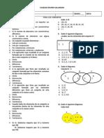 Evaluacion matematicas 5