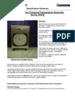 Bristol Pressure Temperature Recorder