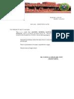 Medico legal certificate