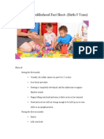 ece497 infancy  toddlerhood fact sheet1