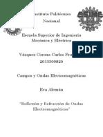 REFLEXIÓN Y REFRACCIÓN DE ONDAS ELECTROMAGNÉTICAS.