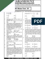 Ssc Mains (Maths) Mock Test-18