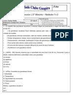 Física - lista de exercícios 1 ano 2º bimestre