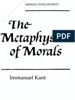 Immanuel Kant the Metaphysics of Morals