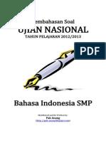 Pembahasan Soal UN Bahasa Indonesia SMP 2013