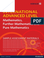 IAL Mathematics Sample Assessment Material