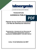 Transcripción Audiencia Pública 12-09-2007 Recursos Conexión