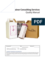 Container Consulting Services Quality Manual - ISO 9001