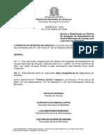 REGULAMENTO DO SISTEMA DE AVALIAÇÃO DE DESEMPENHO DO GCM