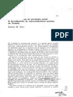 Farr, Robert., Escuelas Europeas de Psicologia Social