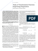 A Comparative Study of Transformation Functions for Nonrigid Image Registration