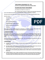 Mediclaim 2012 Policy Document