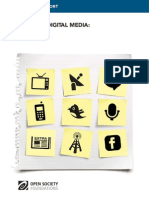 Executive Summary of Mapping Digital Media Report