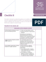 check list minimis regulation
