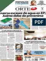 Periódico Norte de Ciudad Juárez edición impresa del 1 abril del 2014