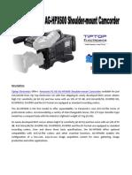 Panasonic P2 HD AG-HPX600 Camcorder