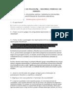 Questionario de Filosofia p1 p 2