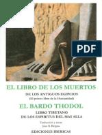 El Libro de Los Muertos Egipcio y Tibetano Por Juan B Bergua