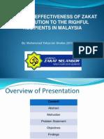 Achieving Effectiveness of Zakat Distribution