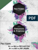 ProVerbs 01-Prolougue & Purpose