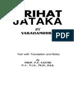 184047511 Jyotish New Brihat Jataka P S Sastri PDF