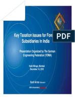 Key Taxation Issues for Foreign Subsidiaries in India