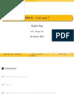 Seminaire WEKA 2011