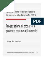Lezione 1 Prodotto e Processo 2013