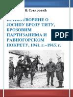 Knjiga Sotirovic 2014 Krivotvorine o Titu i Cetnicimatu u DSR u Jugoslaviji