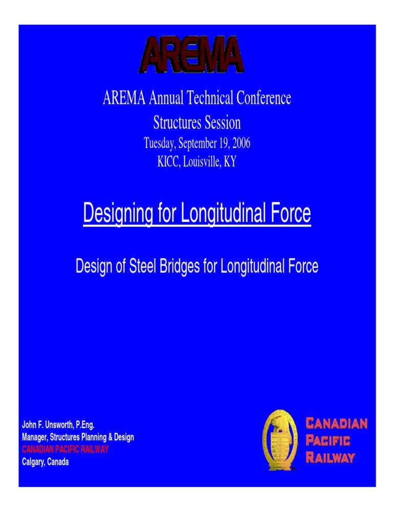 AREMA- Design for Longitudinal Loads | Truss | Deep Foundation