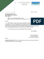 Letter to DSPL Reg Demonstration