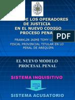 EL ROL DE LOS OPERADORES DE JUSTICIA  EN EL NUEVO CODIGO PROCESO PENAL