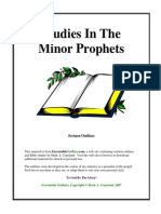 Sermon Outlines - Studies in the MInor Prophets