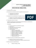 Estructura de Proyecto Final Gestion de Servicios de TI