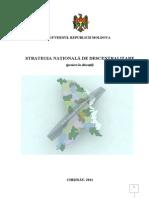 Proiectul Strategiei Nationale de Descentralizare