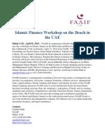 Islamic Finance Workshop on the Beach in the UAE