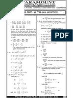 Ssc Mains (Maths) Mock Test-13 (Solution)