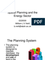 Planning in the energy sector