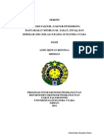 5.Analisis Faktor-Faktor Pendorong Masyarakat Membayar Zakat, Infaq, Dan Sedekah (ZIS) Melalui BAZDA Sumatera Utara