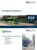 Cambridge Guided Busway Presentation 15 Sep 11
