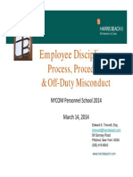 March 2014 NYCOM Presentation on Employee Discipline