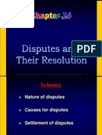 Disputes and Resolution