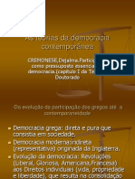As teorias da democracia Contemporânea CREMONESE,Dejalma.