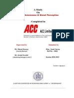 Cement Survey (ACC, Ambuja)