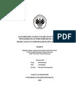 Analisis Kelayakan Usaha Dan Strategi Pengembangan Industri Kecil Meubel Di Kecamatan Suruh Kabupaten Semarang