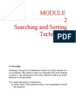 Chapter 2 Searching and Sorting Techniques