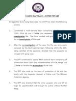 Press Release - Gang Rape Case in Busia