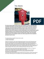 Pengertian Fire Alarm