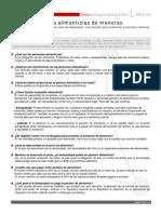 Ficha Pensiones Alimenticias de Menores en Chile