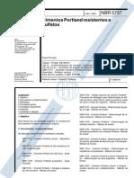 NBR5737_1991 - Cimentos Portland Resistentes a Sulfatos - Es
